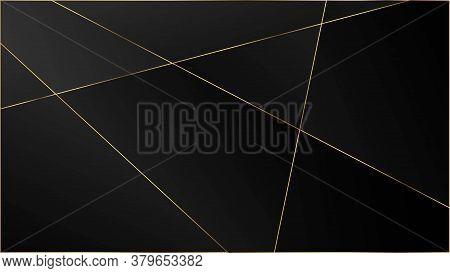 Black Luxury Triangular Pattern. Silver Rich Vip Geometric Celebration Wallpaper. Elegant Dark Plati