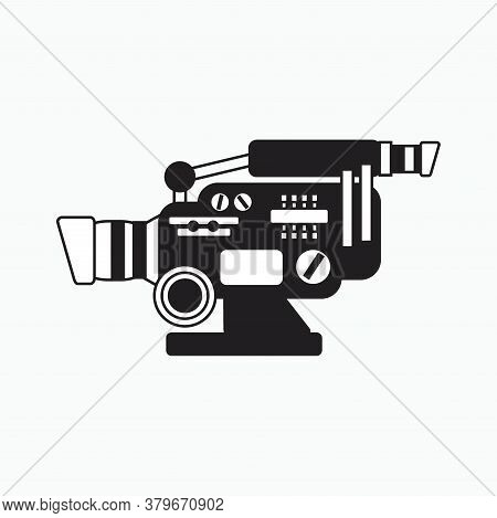 Action Camera Icon Silhouette Illustration Isolated On White Background - Camera Tv, Hd, 4k Used