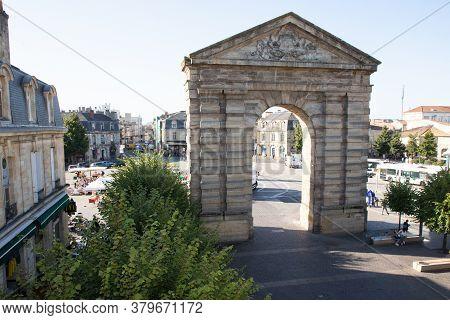 Bordeaux , Aquitaine / France - 09 06 2019 : Place De La Victoire Means Victory Place Bordeaux