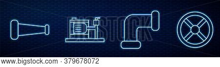 Set Line Industry Metallic Pipe, Industry Metallic Pipe, Electric Water Pump And Industry Valve. Glo