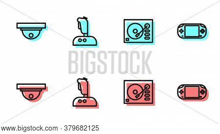 Set Line Vinyl Player, Motion Sensor, Joystick For Arcade Machine And Portable Video Game Console Ic