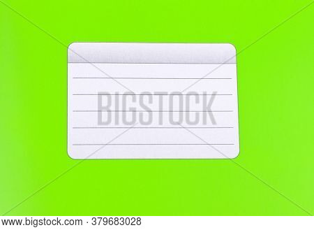 Green Notebook Isolated On A White Background. School Education. Copy Space. Place For Text.