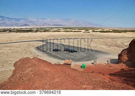 Death Valley / United States - 10 Jul 2017: Cars In Death Valley, California, Usa