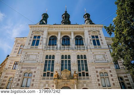 Colorful Neo-renaissance Building Of The Museum Of West Bohemia In The Center Of Plzen In Sunny Day.