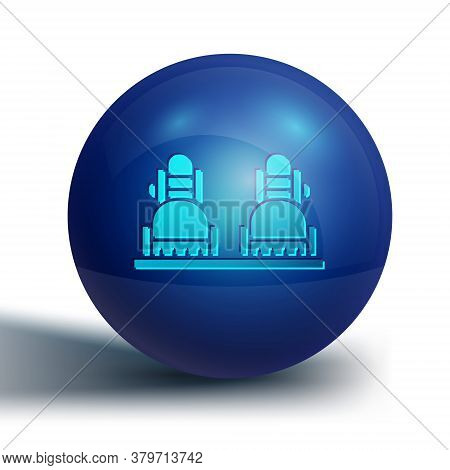 Blue Snowboard Icon Isolated On White Background. Snowboarding Board Icon. Extreme Sport. Sport Equi