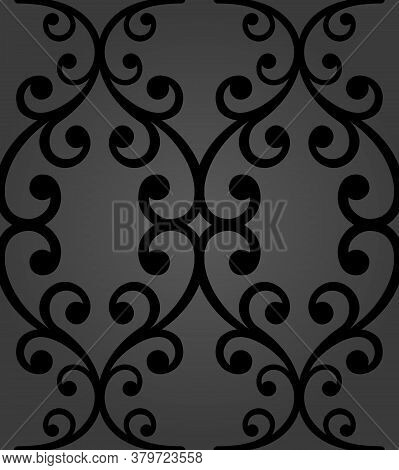 Classic Seamless Vector Pattern. Damask Orient Black Ornament. Classic Vintage Background. Orient Da