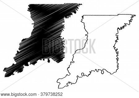 Knox County, Indiana (u.s. County, United States Of America, Usa, U.s., Us) Map Vector Illustration,