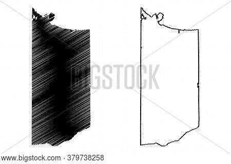 Lake County, Indiana (u.s. County, United States Of America, Usa, U.s., Us) Map Vector Illustration,
