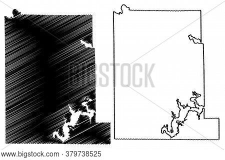 Monroe County, Indiana (u.s. County, United States Of America, Usa, U.s., Us) Map Vector Illustratio