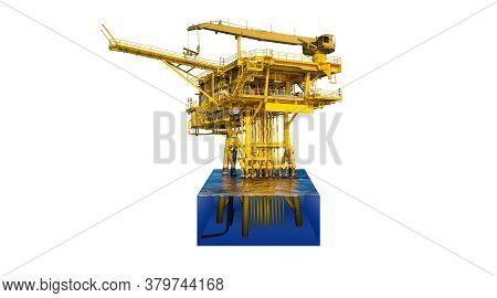 Offshore Oil And Gas Wellhead Remote Platform Produced Raw Gas Condensate Then Sent To Central Facil