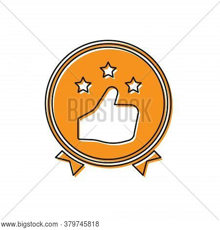 Orange Consumer Or Customer Product Rating Icon Isolated On White Background. Vector Illustration