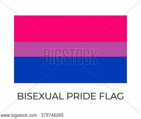 Bisexual Pride Flag. Symbol Of Lgbt Community. Vector Flag Sexual Identity. Easy To Edit Template Fo