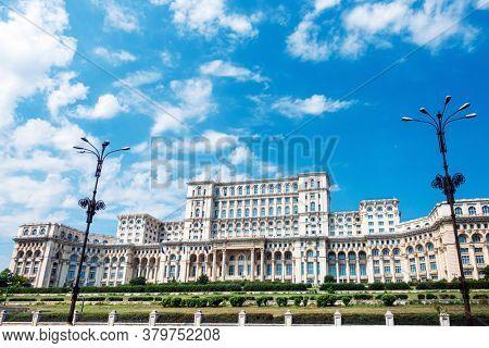 Parliament building in Bucharest, Romanian