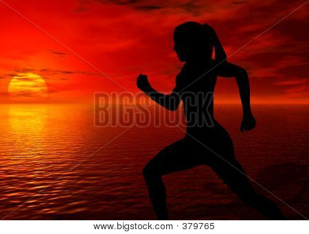 Jogging By The Ocean