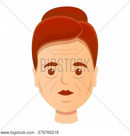 Woman Adult Wrinkles Icon. Cartoon Of Woman Adult Wrinkles Vector Icon For Web Design Isolated On Wh