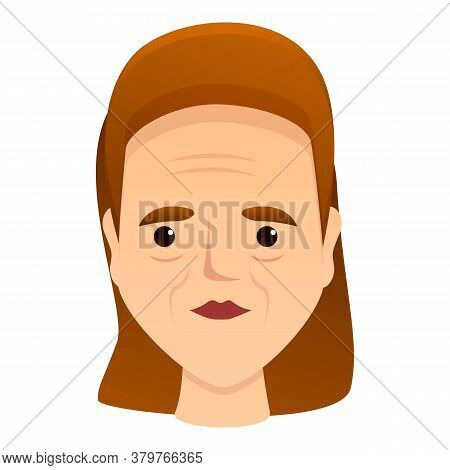 Woman Beauty Wrinkles Icon. Cartoon Of Woman Beauty Wrinkles Vector Icon For Web Design Isolated On