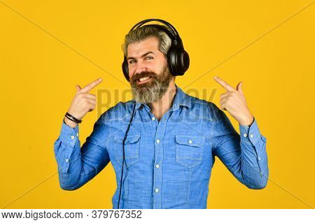 Look At Me. Music Beat For Energetic Mood. His Favorite Song. Enjoy Excellent Sound Song In Earphone