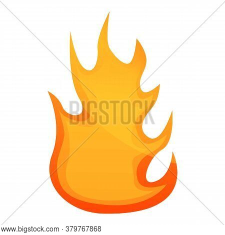 Heat Fire Flame Icon. Cartoon Of Heat Fire Flame Vector Icon For Web Design Isolated On White Backgr