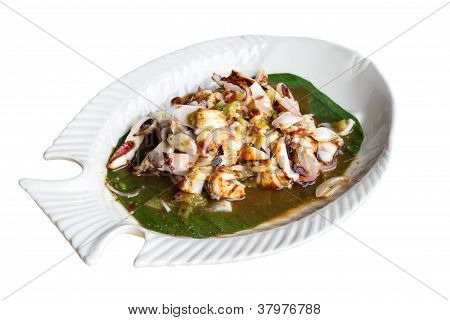 Roasted Cuttlefish With Tamarind Sauce