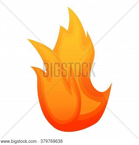Blaze Fire Flame Icon. Cartoon Of Blaze Fire Flame Vector Icon For Web Design Isolated On White Back
