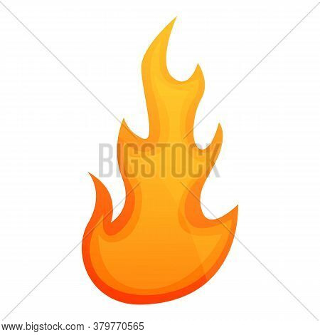 Inferno Flame Icon. Cartoon Of Inferno Flame Vector Icon For Web Design Isolated On White Background