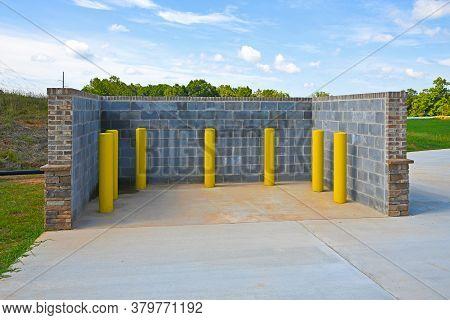 A New Commercial Trash Bin Enclosure For Industrial Trash Receptacle