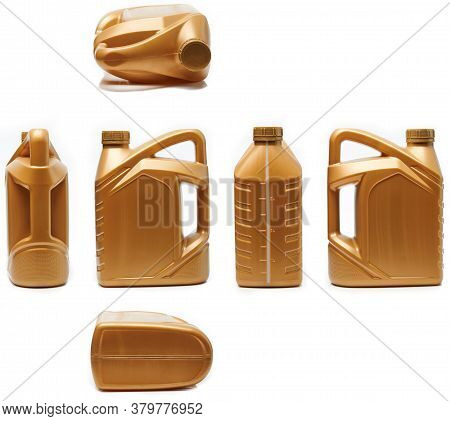 Different Side And View Of Plastic Jerrycan