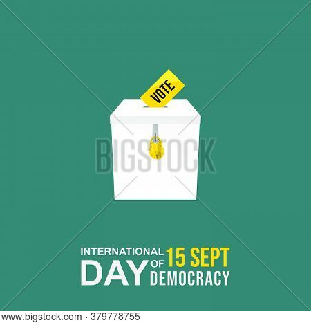 International Day Of Democracy Design With Iron Vote Box Vector Illustration