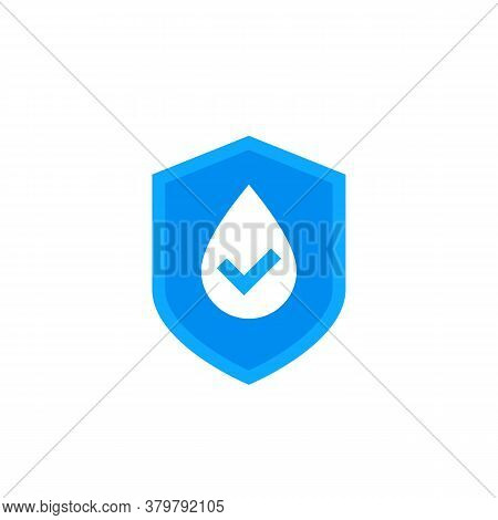 Waterproof Icon, Water Resistant Vector Logo, Eps 10 File, Easy To Edit