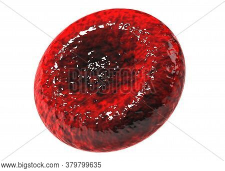 3d Red Blood Cells Isolated On White Backgroun. 3d Illustration Rendering With Clipping Path.