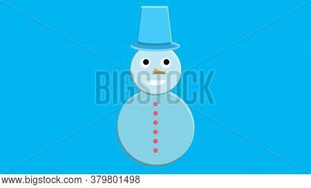 Snowman Vector Icon Flat Helper. Snowman Icon Face Smile Isolated. Snowman Icon Flat Style. Snowman