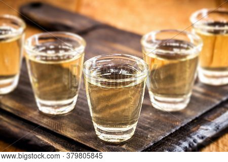 Small Dose Glasses, High Quality Distilled Alcohol. Brazilian Cachaça (called Pinga), Drip, Vodka, W