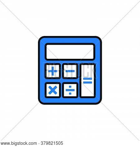 Calculator Icon Vector. Calculator Icon. On White Background. Calculator Icon Simple And Modern. Cal