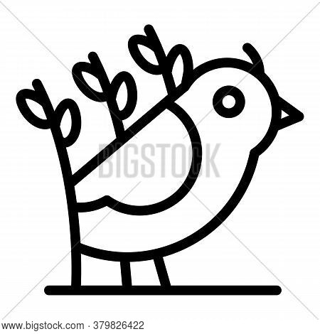 Field Quail Icon. Outline Field Quail Vector Icon For Web Design Isolated On White Background