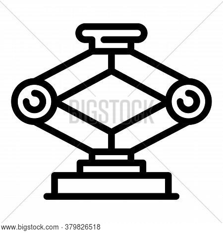 Car Jack Screw Icon. Outline Car Jack Screw Vector Icon For Web Design Isolated On White Background