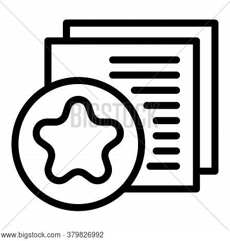 Star Restructuring Icon. Outline Star Restructuring Vector Icon For Web Design Isolated On White Bac