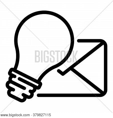 Restructuring Mail Idea Icon. Outline Restructuring Mail Idea Vector Icon For Web Design Isolated On