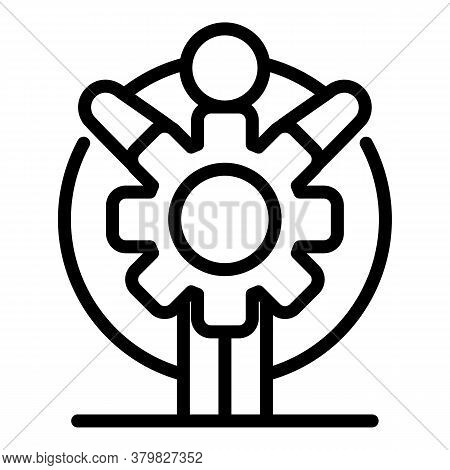 New Gear Wheel Icon. Outline New Gear Wheel Vector Icon For Web Design Isolated On White Background
