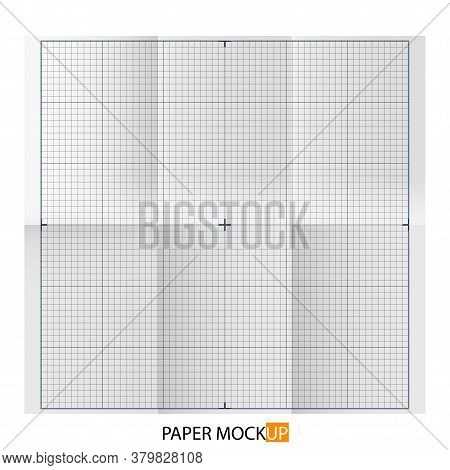 Paper Poster For Draft, Backgrpund Mock Up. Realistic Draft Paper. For Your Business Project. Vector
