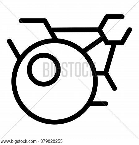 Atomic Hormones Icon. Outline Atomic Hormones Vector Icon For Web Design Isolated On White Backgroun