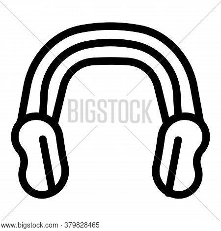 Sport Wrestling Headphones Icon. Outline Sport Wrestling Headphones Vector Icon For Web Design Isola