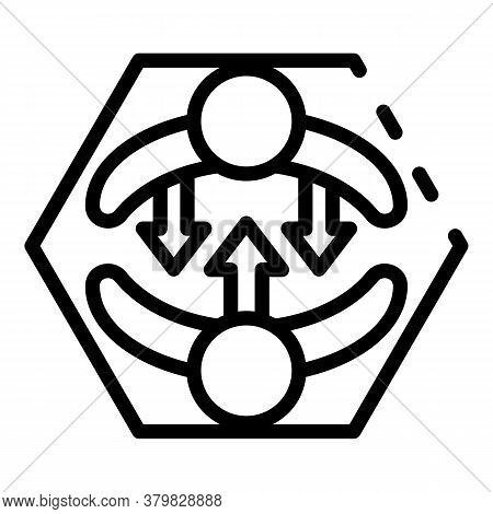 Inclusive Education Hug Icon. Outline Inclusive Education Hug Vector Icon For Web Design Isolated On