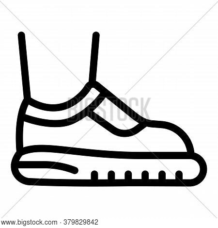 Sport Shoes Icon. Outline Sport Shoes Vector Icon For Web Design Isolated On White Background
