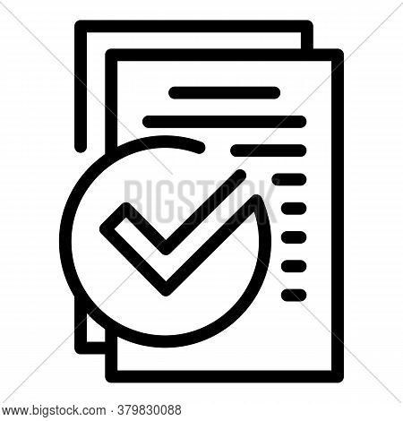 Business Certification Icon. Outline Business Certification Vector Icon For Web Design Isolated On W