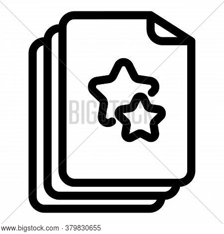 Priority Documents Icon. Outline Priority Documents Vector Icon For Web Design Isolated On White Bac