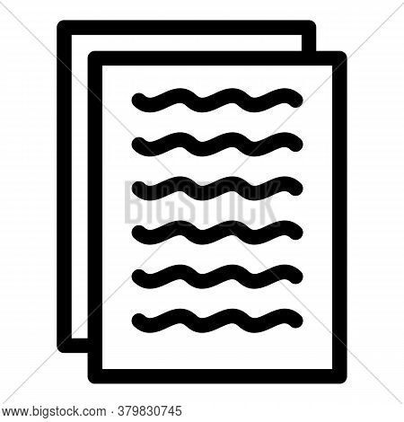 Primary Files Icon. Outline Primary Files Vector Icon For Web Design Isolated On White Background