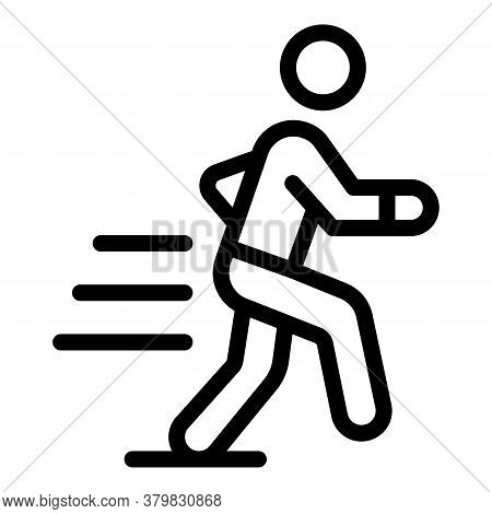 Running Habit Icon. Outline Running Habit Vector Icon For Web Design Isolated On White Background