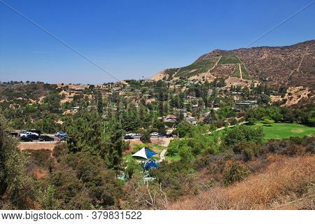 Los Angeles / United States - 15 Jul 2017: Houses In Hollywood, Los Angeles, California, Usa