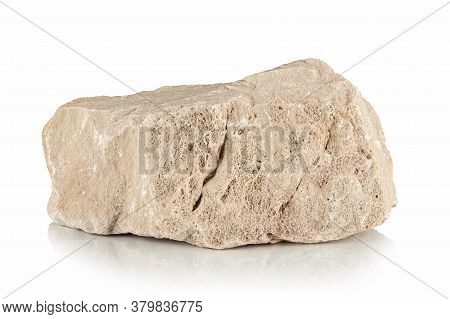 Rough Piece Of Limestone On A White Background
