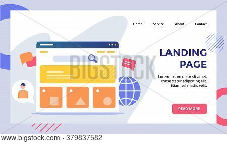 Landing Page User Interface Monitor Concept Campaign For Web Website Home Homepage Landing Page Temp